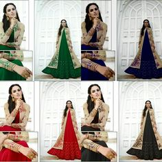 Namaste                Sir / Madam...    Presenting G-10 design          Fabric details    TOP :  goergete  BOTTOM : santun 2.40 mtr with lengha goergete  DUPPATA : Nazmin        Colours-4 colours Style : #Straight Pattern   Rate. - Best selling price  per piece only  full set  No single available in this set    Call & whatup  +91-9413880140  And see more collection of ladies suit,saree, kurti,lengha and other collections of ladies  on  my Facebook page https://www.facebook
