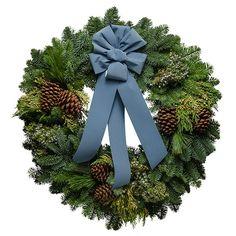 Blue Glacier Christmas Wreath.