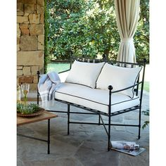 Avery Neoclassical Outdoor Bench (1 547 AUD) ❤ liked on Polyvore featuring home, outdoors, patio furniture, outdoor benches, outdoor garden benches, outdoors patio furniture, outdoor patio furniture and outdoor patio benches