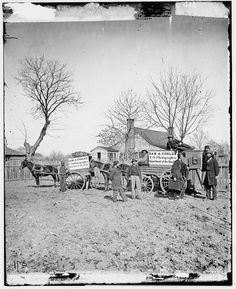[Unknown location. Wagons and camera of Sam A. Cooley, U.S. photographer, Department of the South] (LOC), via Flickr.