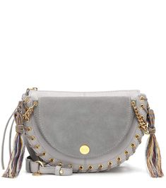 ded3b56cb7c8 Add a dose of bohemian chic to your accessories edit with the Kriss Medium  crossbody bag from See by Chloé. Crafted from grained leather in a soft  blue ...
