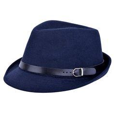 f8449229c9a Vbiger Unisex Woolen Fedora Hat (Dark Grey) at Amazon Men s Clothing store