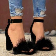Women shoes For Summer Jimmy Choo - Women shoes Guide - Women shoes High Heels Stilettos - Women shoes White Casual Fur Heels, Lace Up Heels, Ankle Strap Heels, Stiletto Heels, Shoes Heels, Heels Outfits, Sandals Outfit, Heels With Straps, Buy Shoes