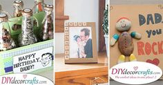 Here are some of our birthday present ideas for dad! We have collected 25 gifts for dads who have everything already, to help you out! Cute Birthday Cards, Dad Birthday Card, Ball Birthday, Birthday Presents, Happy Birthday, Presents For Him, Diy Presents, Cute Gifts, Gifts For Dad
