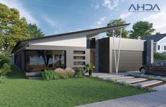 Modern contemporary home with an abundance of energy efficient features