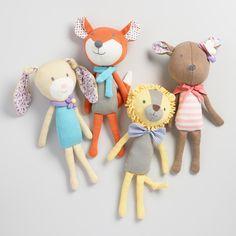 Floral Knit Plush Stuffed Animals
