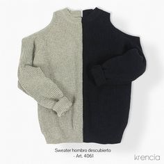 Sweater hombro descubierto - Art. 4061 Krencia indumentaria Ventas solo por mayor