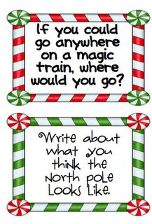 Polar Express- draw what you think the North Pole looks like