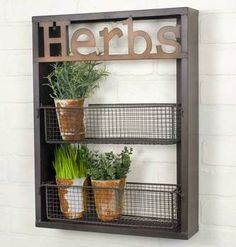 "Herbs"""" Wall Shelf"