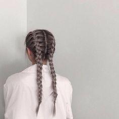 hair, braid, and tumblr image
