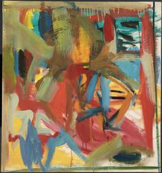 De Kooning, Elaine - 1957 Man in a Whirl (Vassar College) Expressionist Artists, Abstract Expressionism, Abstract Art, Elaine De Kooning, Willem De Kooning, Action Painting, Contemporary Paintings, New Art, Yorkie