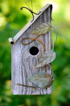 Amazing Bird House Ideas For Your Backyard Bird House Plans, Bird House Kits, Bird Houses Diy, Fairy Houses, Bird House Feeder, Bird Feeders, Birdhouse Designs, Bird Aviary, Bird Boxes