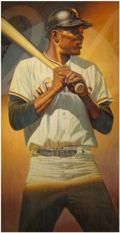 """Willie Mays, SF Giants 36""""x66"""" by Eric Grbich Baseball Wall, Giants Baseball, Baseball Tees, Diamonds In The Sky, Famous Sports, Willie Mays, Baseball Equipment, American Sports, Sports Art"""