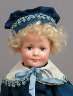 "10 5"" Armand Marseille 550 Antique Smiling BOY Character Doll 