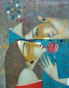 "http://www.largogallery.com/ Peter Mitchev, ""Love"", oil, canvas, 50/40"