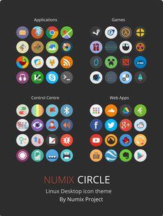 Numix-Circle Linux Desktop Icon Theme by me4oslav.deviantart.com on @deviantART