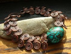Turquoise Egyptian Spiral bracelet by kmaylward on Etsy, $45.00