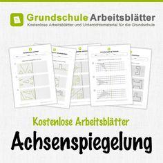 Kostenlose Arbeitsblätter und Unterrichtsmaterial zum Thema Achsenspiegelung im Mathe-Unterricht in der Grundschule.