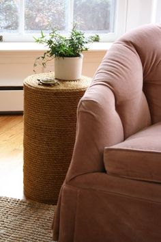 DIY Home Decor: How to Make a Rope Side Table from Scratch — Apartment Therapy Reader Project Tutorial