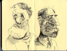 tom hovey blog: drawings from me moleskin when I'm on the bus