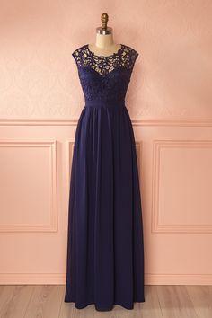 Longue robe de demoiselle d'honneur bleue -Blue bridesmaid gown