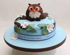 Download Cute Owl Birthday Cake HD Wallpaper