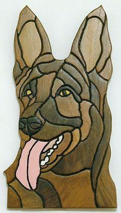 Dog, German Shepherd, Wood Sculpture, Wall Art, Pet Memorial by Galleryatkingston on Etsy