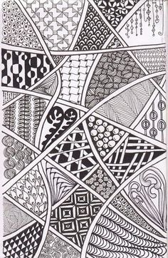 If art and me ever did really connect, it was through zentangle. I live to zentangle. Just displaying art's finest beauty. Zentangling is one of my favorite past times. Doodles Zentangles, Zentangle Drawings, Zentangle Patterns, Doodle Drawings, Zen Doodle Patterns, Flower Drawings, Art Patterns, Line Patterns, Pattern Ideas