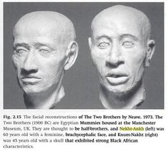 Facial reconstruction of mummies of Nekhtankh and Knumknakht; half-brothers