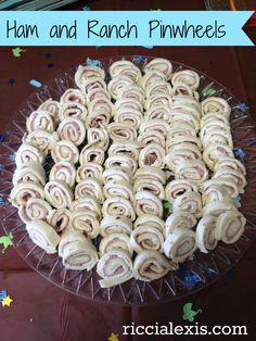 Ham and Cream Cheese Pinwheels | Fruit Dip, Party Punch, and Pinwheels - Ricci Explains It All