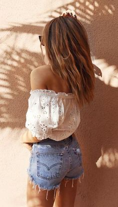 #summer #fashion / off-the-shoulder top