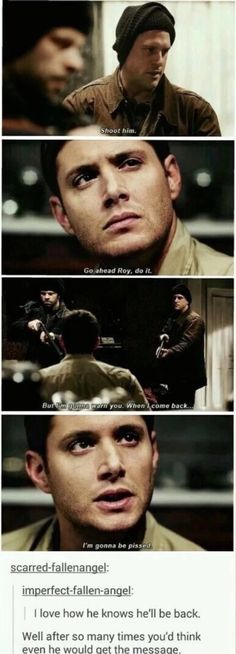 Dean coming back x]