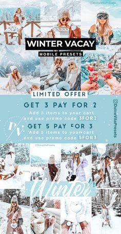Winter Offers!❄️☃️- 3 Lightroom Mobile Presets for just €3,64 ✨-70%Discount!!! @dolcevitapresets #lightroompresets #lightroom #mobilepresets #presets #editpic #blogger #winter #wonderland #ukblogger #picsart Lightroom Presets, Picsart, Winter Wonderland, Christmas, Xmas, Navidad, Noel, Natal, Kerst
