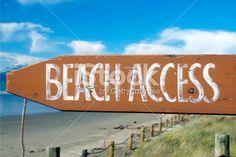 Beach Access Signpost Royalty Free Stock Photo