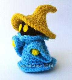Final Fantasy Black Mage Doll Crochet Pattern by JanaGeek on Etsy