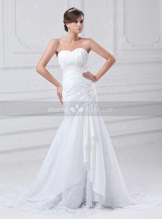 BERTHA - Mermaid Sweetheart A-line Chapel train Taffeta Wedding dress