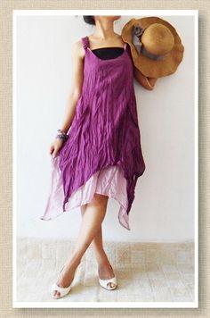 Party  Violet Sweet Dress Cotton. $30.00, via Etsy.