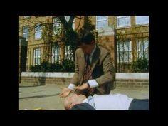 Mr. Bean's idea of first aid. haha so close.