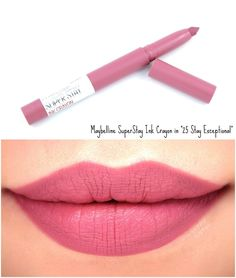 Maybelline SuperStay Ink Crayon Lipstick, Matte Longwear Lipstick Makeup, Treat Yourself Best Lipstick Color, Lipstick For Fair Skin, How To Apply Lipstick, Best Lipsticks, Lipstick Shades, Lipstick Colors, Lip Colors, Matte Lipsticks, Best Drugstore Lipstick