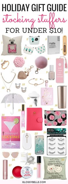 Holiday Gift Guide 2017: 30 Stocking Stuffer Ideas For Under $10! // If you're looking to purchase a Christmas gift as a small token of appreciation, here are 30 awesome stocking stuffer ideas and they're all for $10 or less!