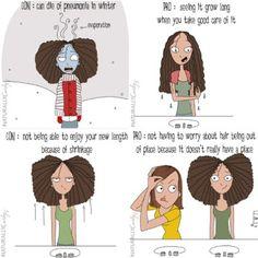 Natural Hair Memes, Curly Hair Tips, Curly Hair Styles, Natural Hair Styles, Hair Jokes, Hair Humor, Girls Natural Hairstyles, Black Girls Hairstyles, Curly Girl Problems