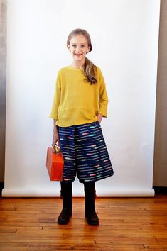 Introducing the new Lunch Box Tee + Culottes sewing pattern from Oliver + S.