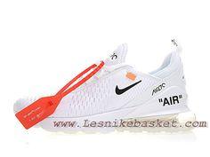 4ae536e3fcc White Off X Nike Air Max 270 White Bule AH8050 100F Chaussures Nike pas  cher Pour femme