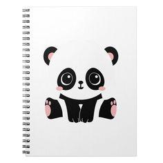 Shop Cute Baby Panda Notebook created by Norcalprint. Baby Panda Bears, Baby Pandas, Cute Gifts, Baby Gifts, Panda Craft, Minnie Mouse Toys, Panda Drawing, Cool School Supplies, Cartoon Panda