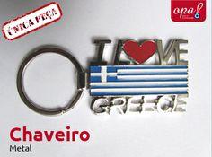 Chaveiro I Love Greece Metal  R$ 25,00 + frete opabazar@gmail.com