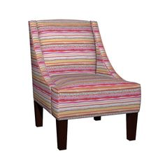 Venda Sloped Arm Chair featuring Mary Carmella Stripe by reneeciufo | Roostery Home Decor
