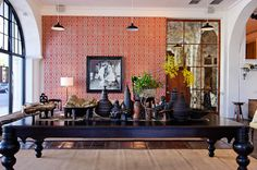 I hope to visit the Raoul store in CA for design inspiration from their hand printed textiles and collection of bespoke furniture, lighting, African art, and garden accessories.
