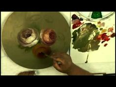 White Roses- Quick and Fun Decorative Painting - YouTube