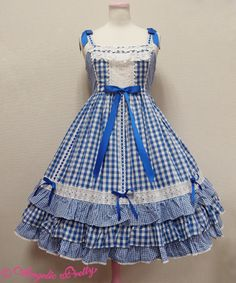 Angelic Pretty 避暑地の少女ジャンパースカートI love this dress i want an too wear i love these dresses there so cute