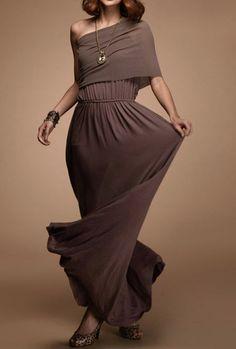 High Waisted One Shoulder Dress